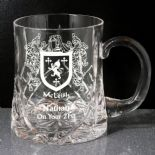 Family Crest Personalised Small Tankard ref CHTC